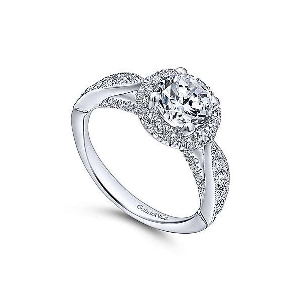 Gabriel & Co. Tansy 14K White Gold Engagement Ring Image 2 SVS Fine Jewelry Oceanside, NY