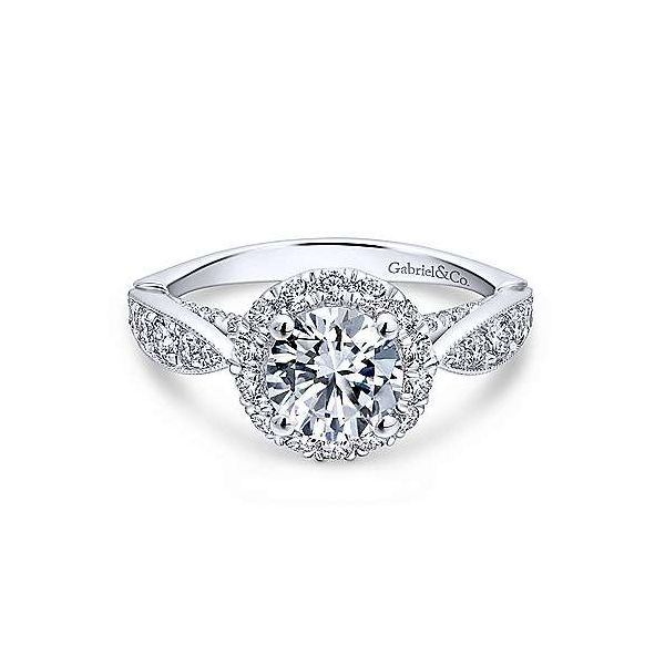 Gabriel & Co. Tansy 14K White Gold Engagement Ring SVS Fine Jewelry Oceanside, NY