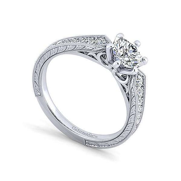 Gabriel & Co. Ava 14K White Gold Engagement Ring Image 2 SVS Fine Jewelry Oceanside, NY