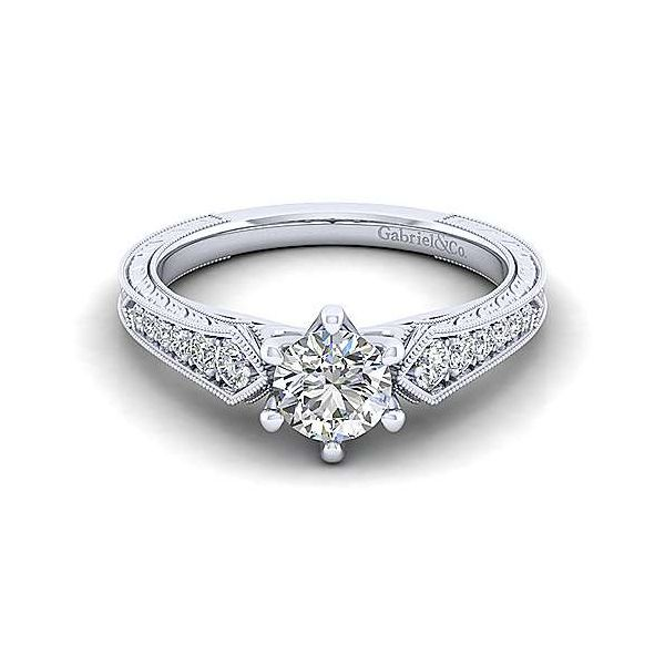 Gabriel & Co. Ava 14K White Gold Engagement Ring SVS Fine Jewelry Oceanside, NY