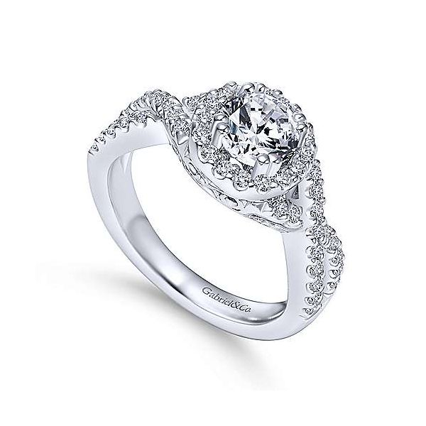Gabriel & Co. Kendie 14K White Gold Engagement Ring Image 2 SVS Fine Jewelry Oceanside, NY
