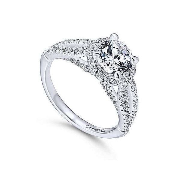 Gabriel & Co. Holly 14K White Gold Engagement Ring Image 2 SVS Fine Jewelry Oceanside, NY