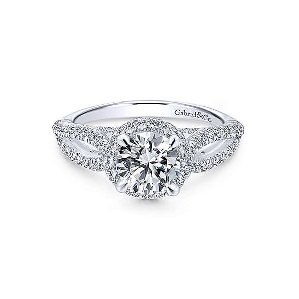 Gabriel & Co. Holly 14K White Gold Engagement Ring SVS Fine Jewelry Oceanside, NY