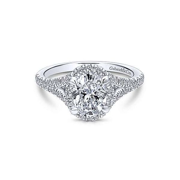 Gabriel & Co. Verbena 14K White Gold Engagement Ring SVS Fine Jewelry Oceanside, NY