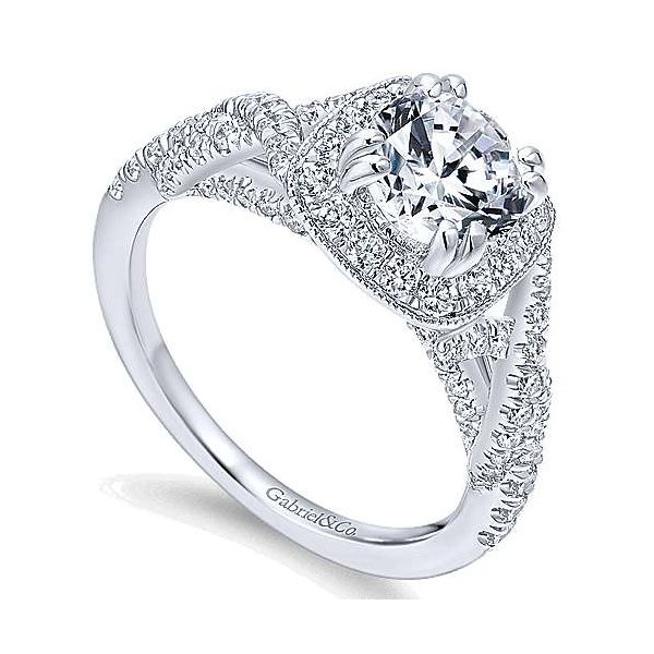 Gabriel & Co. Wisteria 14K White Gold Engagement Ring Image 2 SVS Fine Jewelry Oceanside, NY