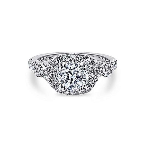 Gabriel & Co. Wisteria 14K White Gold Engagement Ring SVS Fine Jewelry Oceanside, NY