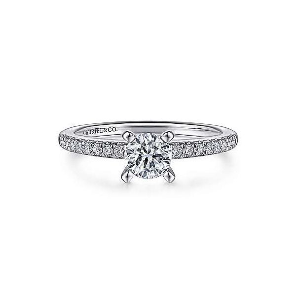 Gabriel & Co. Kelly 14K White Gold Engagement Ring SVS Fine Jewelry Oceanside, NY
