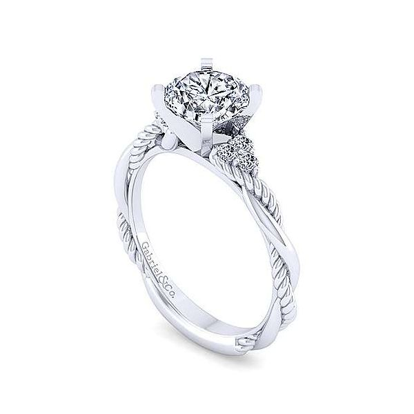 Gabriel & Co. Catalina 14K White Gold Engagement Ring Image 2 SVS Fine Jewelry Oceanside, NY