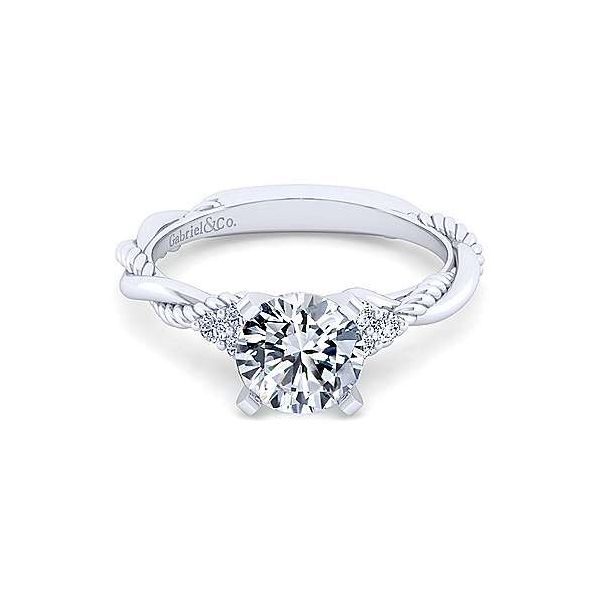 Gabriel & Co. Catalina 14K White Gold Engagement Ring SVS Fine Jewelry Oceanside, NY