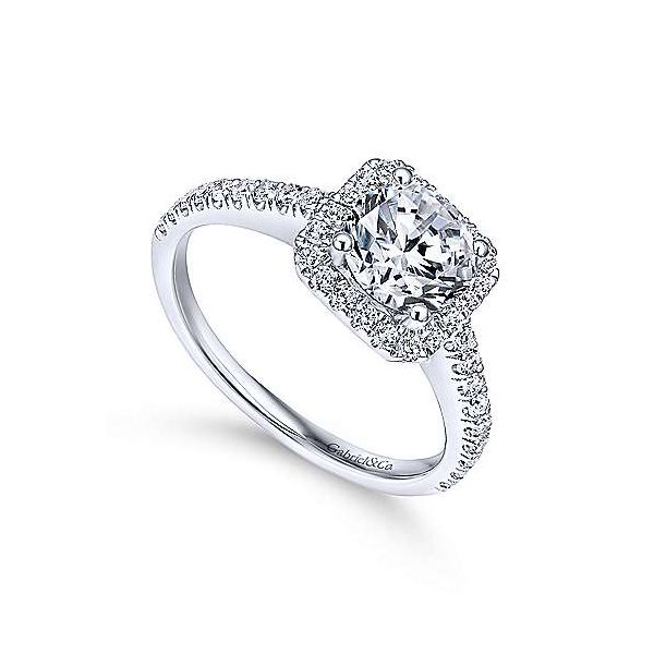 Gabriel & Co. Margot 14K White Gold Engagement Ring Image 2 SVS Fine Jewelry Oceanside, NY