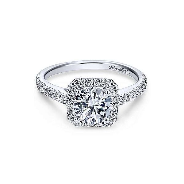 Gabriel & Co. Margot 14K White Gold Engagement Ring SVS Fine Jewelry Oceanside, NY
