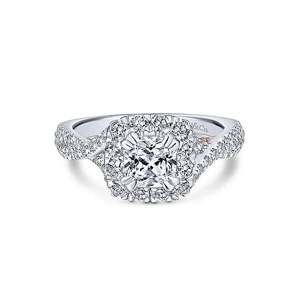 Gabriel & Co. Vanessa Gold Engagement Ring SVS Fine Jewelry Oceanside, NY