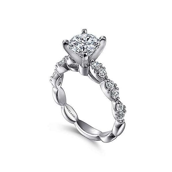 Gabriel & Co. Rowan 14K White Gold Engagement Ring Image 2 SVS Fine Jewelry Oceanside, NY