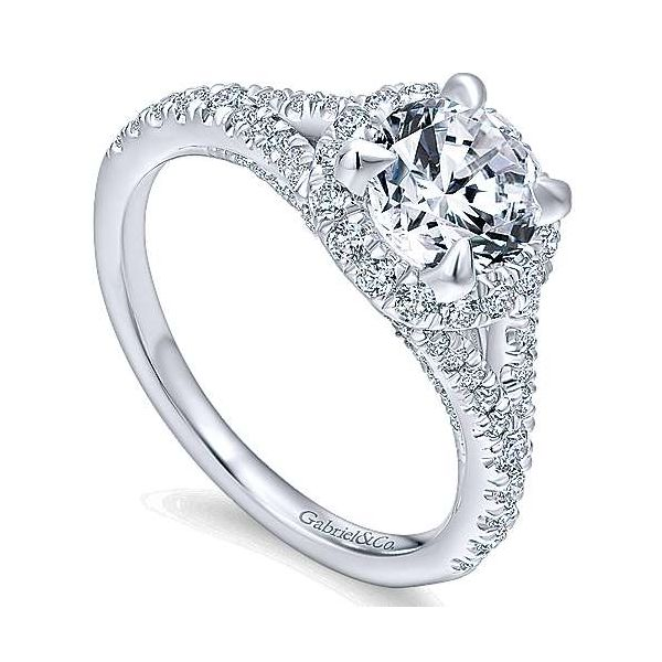 Gabriel & Co. Verbena 14K White Gold Engagement Ring Image 2 SVS Fine Jewelry Oceanside, NY