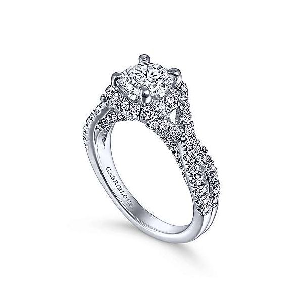 Gabriel & Co. Freesia 14K White Gold Engagement Ring Image 2 SVS Fine Jewelry Oceanside, NY