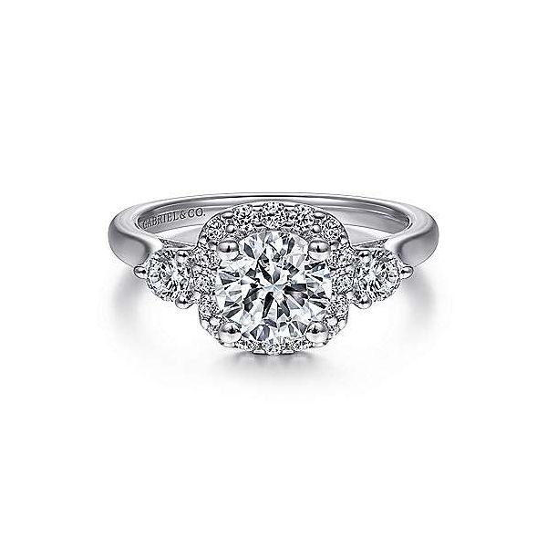 Gabriel & Co. Martine 14K White Gold Engagement Ring SVS Fine Jewelry Oceanside, NY