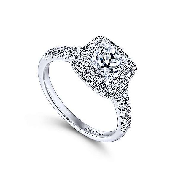Gabriel & Co. Addison 14K White Gold Engagement Ring Image 2 SVS Fine Jewelry Oceanside, NY