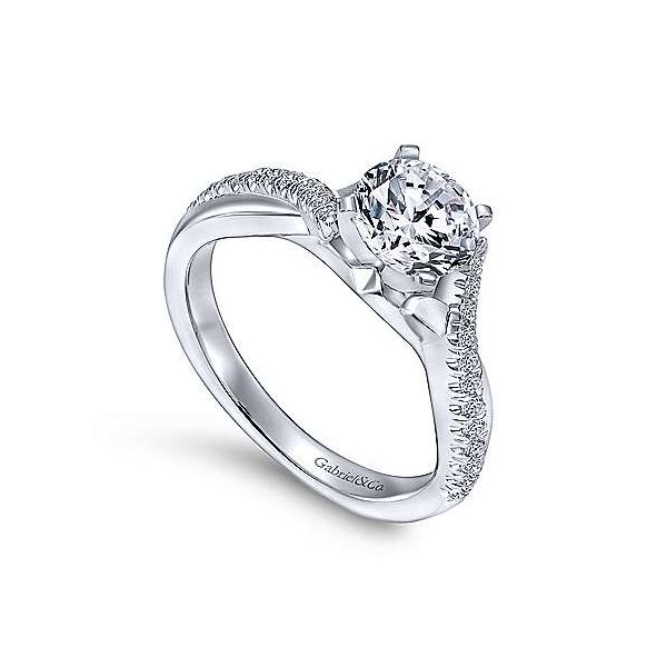 Gabriel & Co. Scout 14K White Gold Engagement Ring Image 2 SVS Fine Jewelry Oceanside, NY
