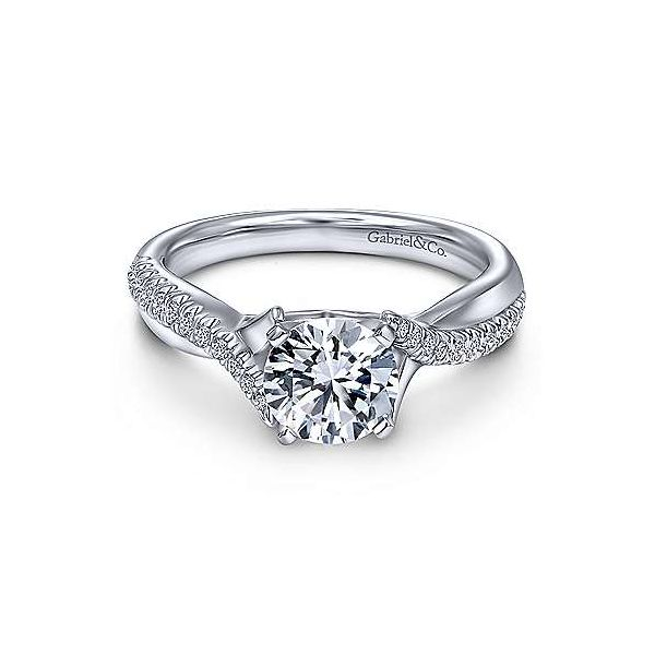 Gabriel & Co. Scout 14K White Gold Engagement Ring SVS Fine Jewelry Oceanside, NY