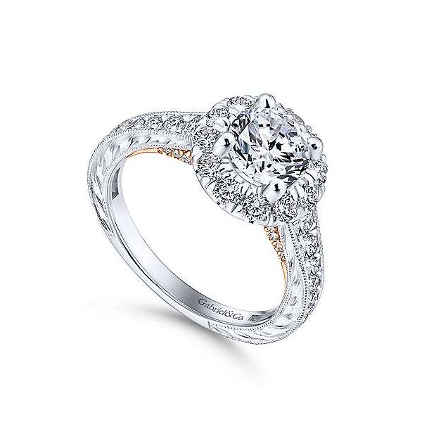 Gabriel & Co. Samantha Gold Engagement Ring Image 2 SVS Fine Jewelry Oceanside, NY