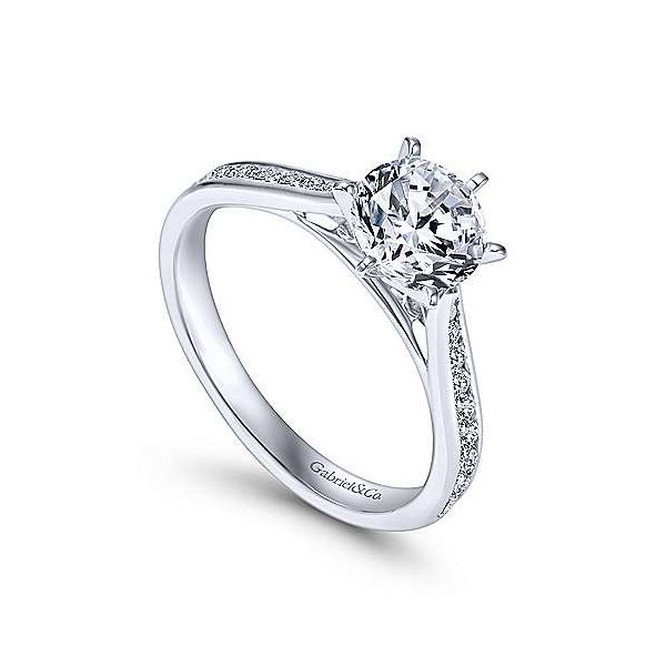 Gabriel & Co. Danielle 14K White Gold Engagement Ring Image 2 SVS Fine Jewelry Oceanside, NY