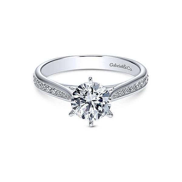 Gabriel & Co. Danielle 14K White Gold Engagement Ring SVS Fine Jewelry Oceanside, NY