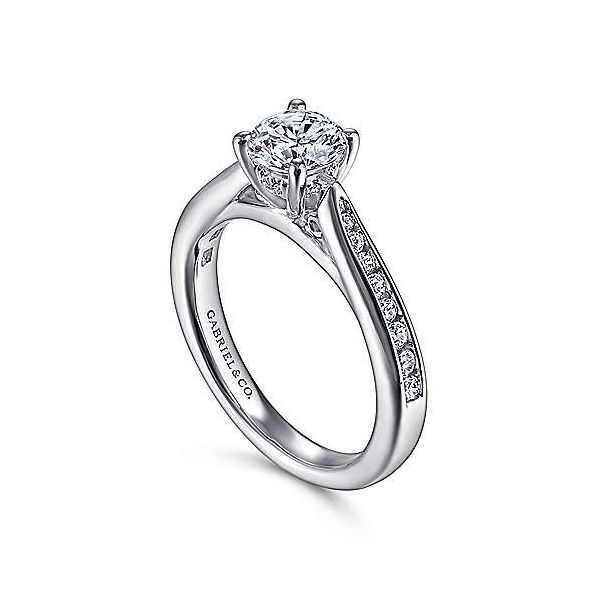 Gabriel & Co. Hannah 14K White Gold Engagement Ring Image 2 SVS Fine Jewelry Oceanside, NY