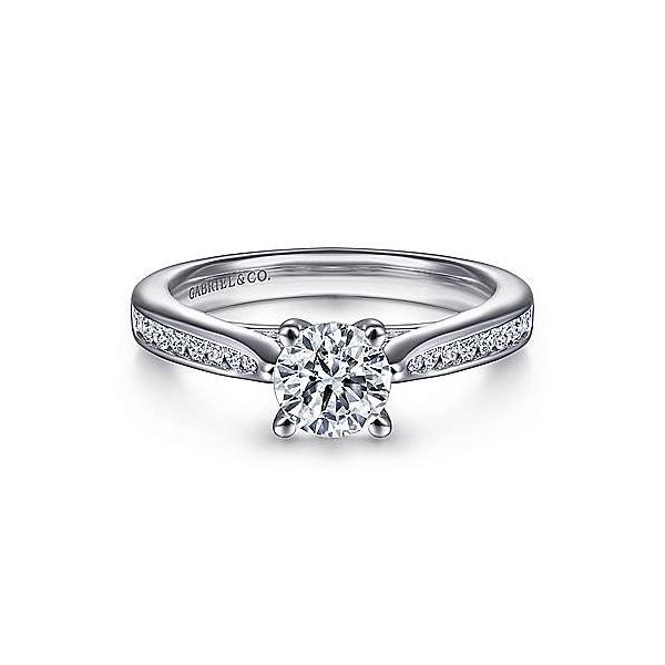 Gabriel & Co. Hannah 14K White Gold Engagement Ring SVS Fine Jewelry Oceanside, NY