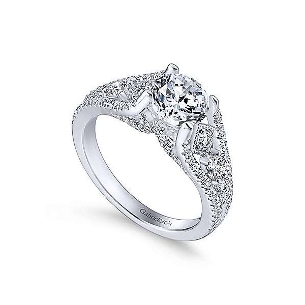 Gabriel & Co. Myrtle 14K White Gold Engagement Ring Image 2 SVS Fine Jewelry Oceanside, NY