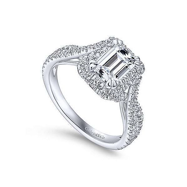 Gabriel & Co. Monique 14K White Gold Engagement Ring Image 2 SVS Fine Jewelry Oceanside, NY