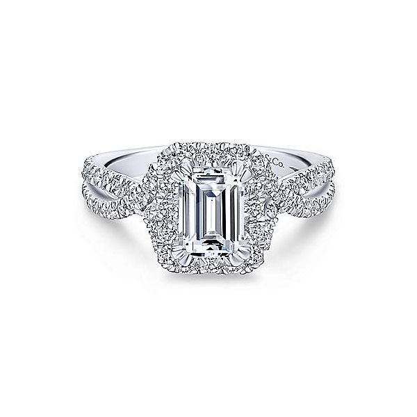 Gabriel & Co. Monique 14K White Gold Engagement Ring SVS Fine Jewelry Oceanside, NY