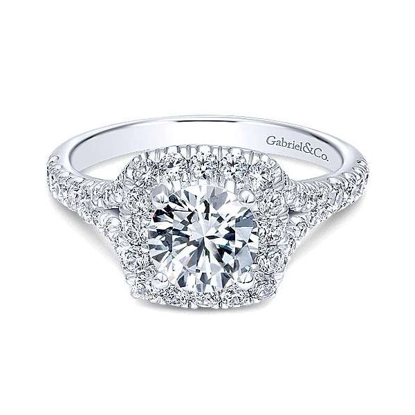 Gabriel & Co. Kennedy 14K White Gold Engagement Ring SVS Fine Jewelry Oceanside, NY