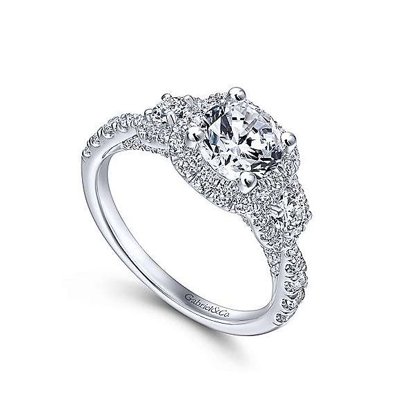 Gabriel & Co. Canarsie 14K White Gold Engagement Ring Image 2 SVS Fine Jewelry Oceanside, NY