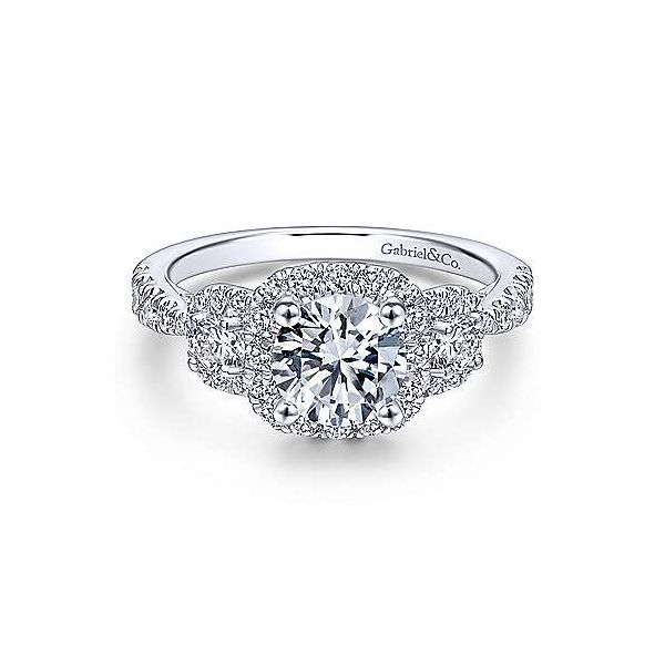 Gabriel & Co. Canarsie 14K White Gold Engagement Ring SVS Fine Jewelry Oceanside, NY