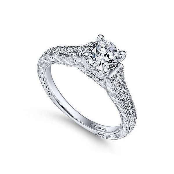 Gabriel & Co. Abigail 14K White Gold Engagement Ring Image 2 SVS Fine Jewelry Oceanside, NY