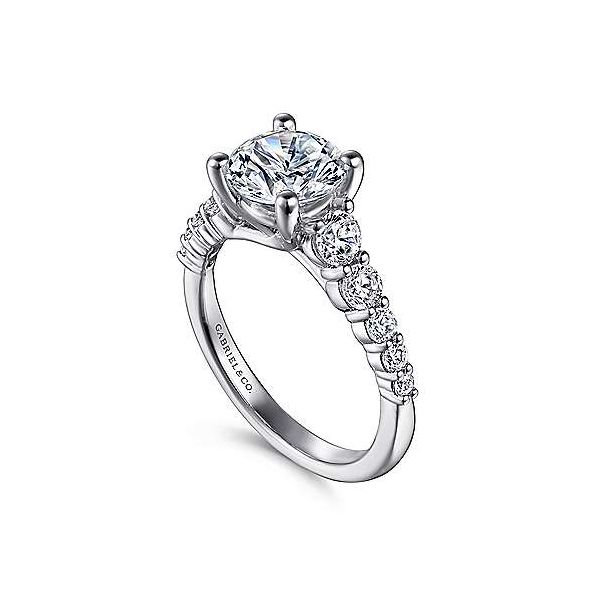 Gabriel & Co. Reed 14K White Gold Engagement Ring Image 2 SVS Fine Jewelry Oceanside, NY