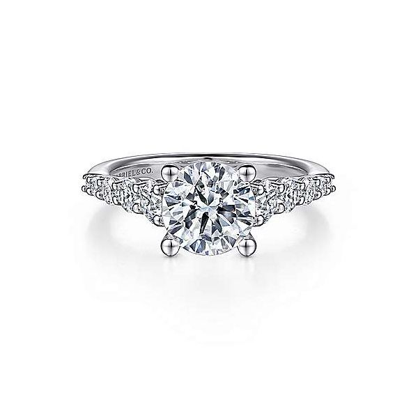 Gabriel & Co. Reed 14K White Gold Engagement Ring SVS Fine Jewelry Oceanside, NY