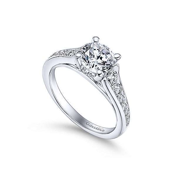 Gabriel & Co. Aubrey 14K White Gold Engagement Ring Image 2 SVS Fine Jewelry Oceanside, NY