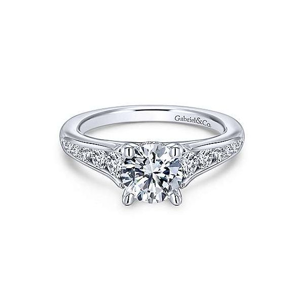 Gabriel & Co. Aubrey 14K White Gold Engagement Ring SVS Fine Jewelry Oceanside, NY
