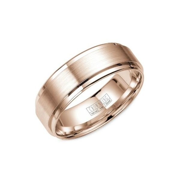 Crown Ring Lite Collection Rose Gold Wedding Band SVS Fine Jewelry Oceanside, NY