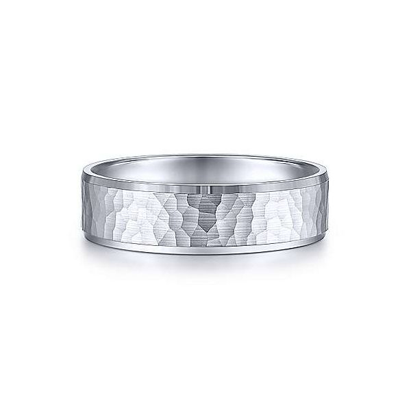 Gabriel Aiden Men's 14K White Gold Wedding Band SVS Fine Jewelry Oceanside, NY