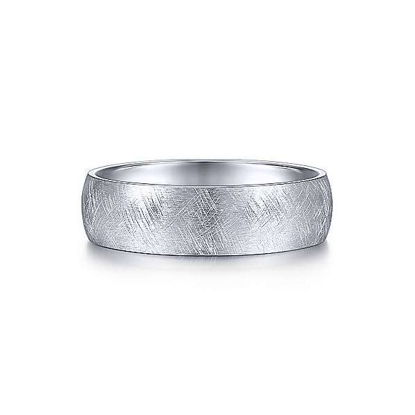 Gabriel Isaac Men's 14K White Gold Wedding Band SVS Fine Jewelry Oceanside, NY