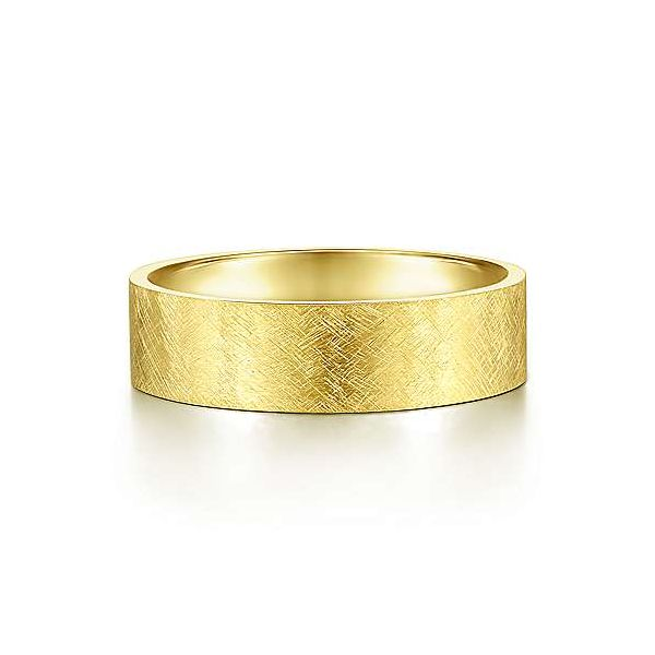 Gabriel Ian Men's 14K Yellow Gold Wedding Band SVS Fine Jewelry Oceanside, NY