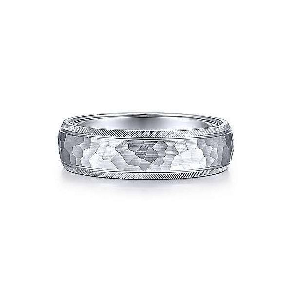 Gabriel Simon Men's 14K White Gold Wedding Band SVS Fine Jewelry Oceanside, NY