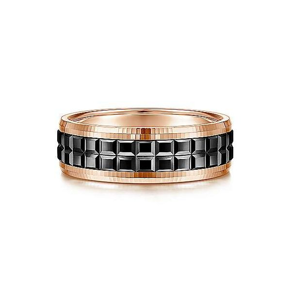 Gabriel Brad Men's 14K Rose Gold Wedding Band SVS Fine Jewelry Oceanside, NY