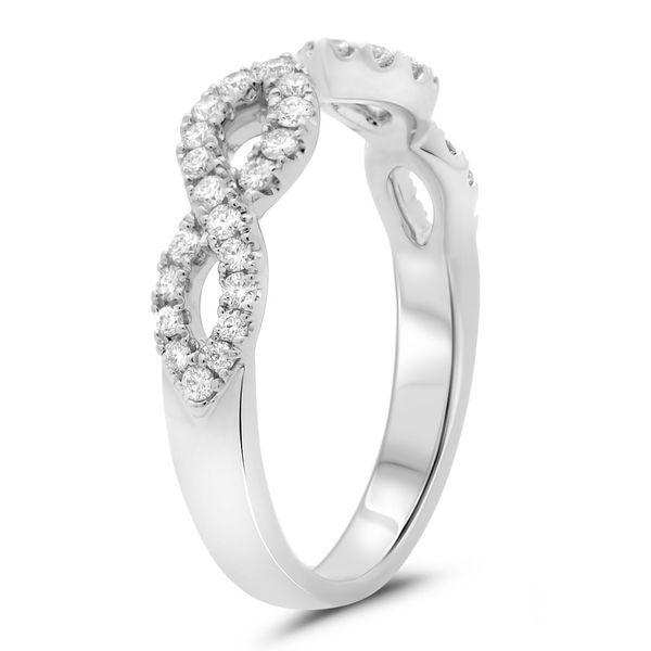 Open White Gold & Diamond Infinity Band Image 3  ,