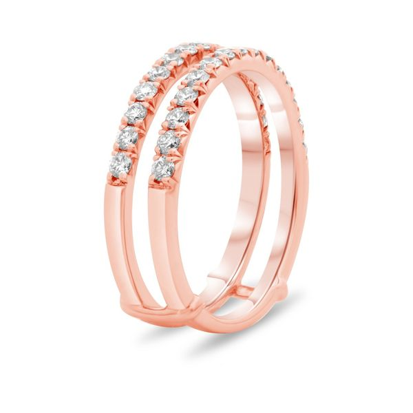 Rose Gold Diamond Insert Wedding Band Image 3  ,