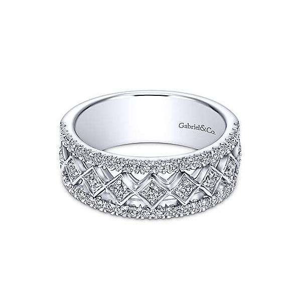 Gabriel & Co. Contemporary White Gold Diamond Band SVS Fine Jewelry Oceanside, NY