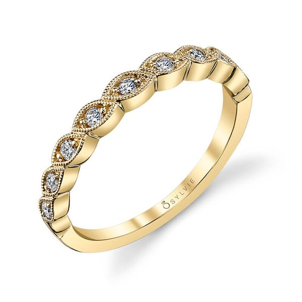 Sylvie Fiona 14K Yellow Gold Wedding Band, 0.16Cttw SVS Fine Jewelry Oceanside, NY