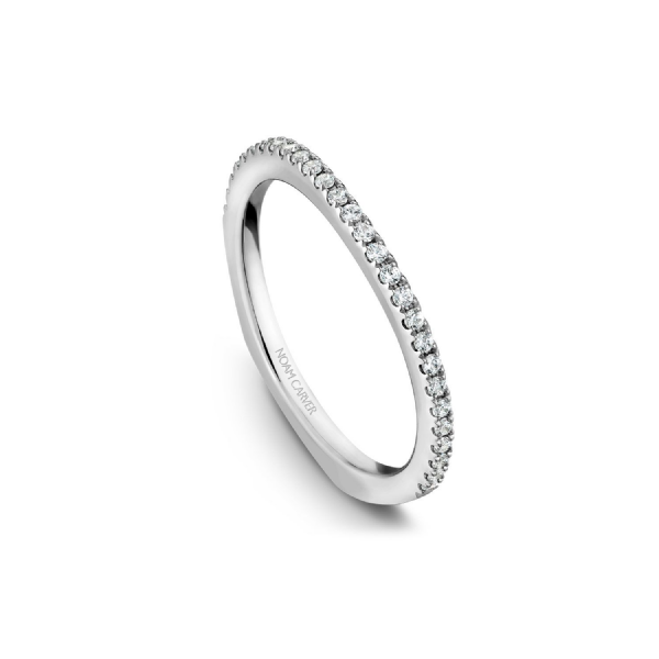 Noam Carver 14K White Gold & Diamond Wedding Band SVS Fine Jewelry Oceanside, NY